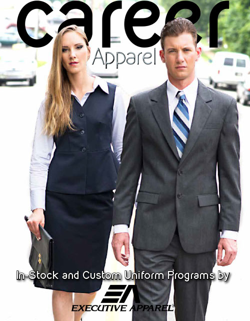 This catalog features the following types of uniforms:  Blazers, Pants Skirts, Blouses, Vests, Chef Coats & Shirts, Ties & Bow Ties, Scarves, & Serving Gloves,