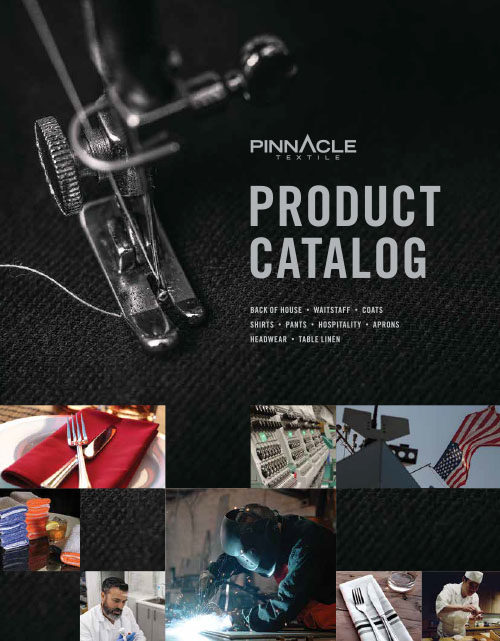 This catalog features the following types of uniforms:  Chef Coats, Cooks Shirts, Cook Pants, Butcher Frocks, Aprons, Chef Hats, Skull Caps, Chef Baseball Caps, Kerchiefs, Bar mops, Lab Coats, Isolation Gowns, Cover Gowns, Tunics, Smocks, Wrap Around Gowns, Work Shirts, Work Pants, Work Jackets, Coveralls, FR Shirts, FR Jeans, FR Pants, FR Overall/Coverall, FR Squad Suits, FR Tech Coat, PSA Coveralls, PSA One-Piece Suits, PSA Squad Suits, & FR Mace Masks