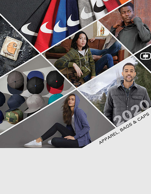 This catalog features:  T-Shirts, Polos, Woven Shirts, Sweatshirts/Fleece, Outerwear, Activewear, Headwear, Aprons, Backpacks, Bags, Blankets, Robes/Towels, & Scarves/Gloves